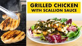 Rachel Makes Grilled Chicken With Scallion Sauce