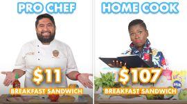 $107 vs $11 Breakfast Sandwich: Pro Chef & Home Cook Swap Ingredients