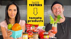Padma Lakshmi & Brad Try 9 Tomato Products