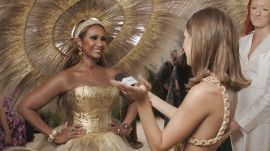 Iman on Her Gold Met Look That Took 400 Hours to Make