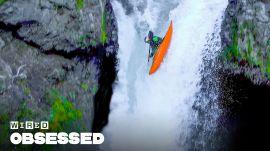 How This Guy Paddles Kayaks Over Massive Waterfalls