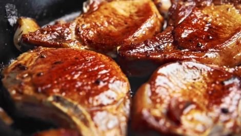 You Won't Be Able to Stop Making These Sweet, Sticky Balsamic-Glazed Pork Chops