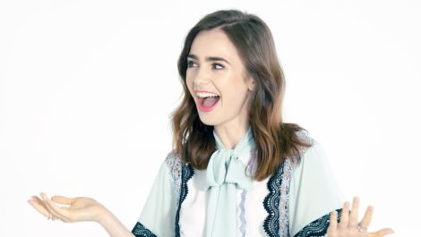 Lily Collins Proves She Knows Design with First-Ever AD IQ Test