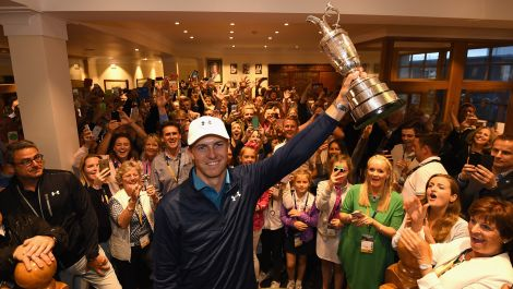 Jordan Spieth's epic claret jug celebration