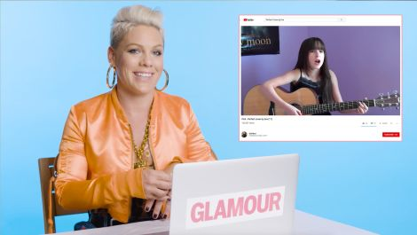 P!nk Watches Fan Covers On YouTube