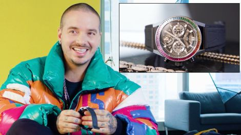 J Balvin's Jewelry Collection Has a Sick Diamond Spinner Necklace