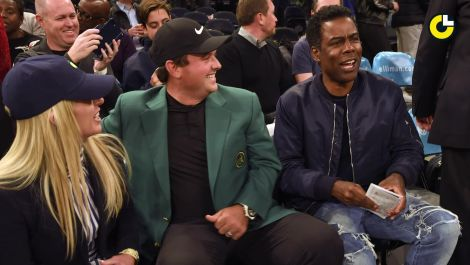 Masters champ Patrick Reed celebrates with Chris Rock, Aziz Ansari & J.R. Smith