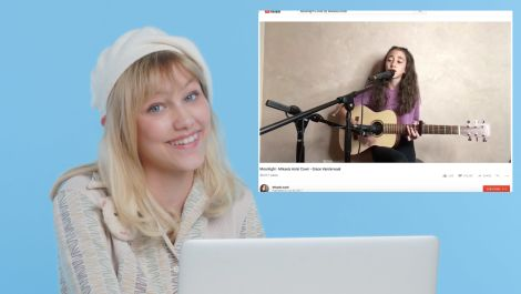 Grace VanderWaal Watches Fan Covers On YouTube