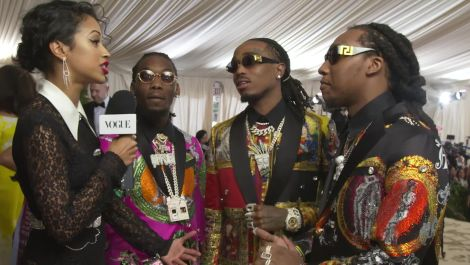 Migos on Their Matching Versace Suits