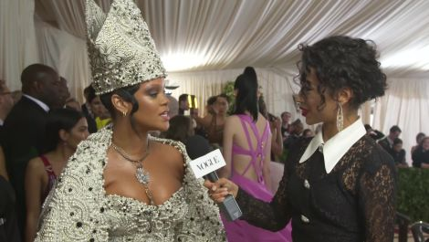 Rihanna on Her Divine Dress and Co-Hosting With Anna Wintour