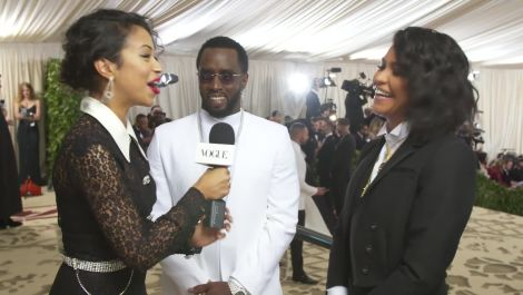 Diddy and Cassie on Their Angelic Met Gala Outfits