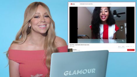 Mariah Carey Watches Fan Covers On YouTube