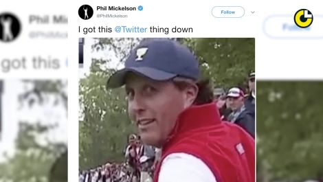 Phil Mickelson's Rocky Twitter Debut
