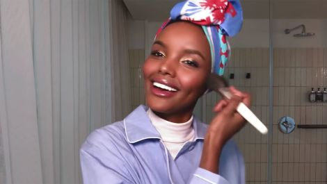 Halima Aden's Guide to Glowing Skin and Rose Gold Party Eyes