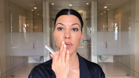 Kourtney Kardashian's Guide to Natural-ish Masking and Makeup