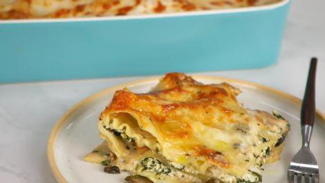 Creamy Mushroom & Spinach Lasagna
