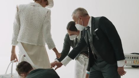"""""""The World Will Always Need Creativity""""—Thom Browne Reflects on His Olympian Collection on Good Morning Vogue"""