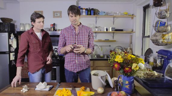 Luke and Ben from Luke's Lobster Serve Up a Root Vegetable Gratin with Oysters