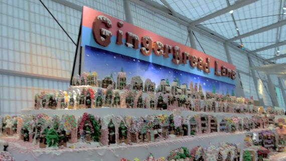 The World's Largest Gingerbread Village Uses 700 lbs of Candy
