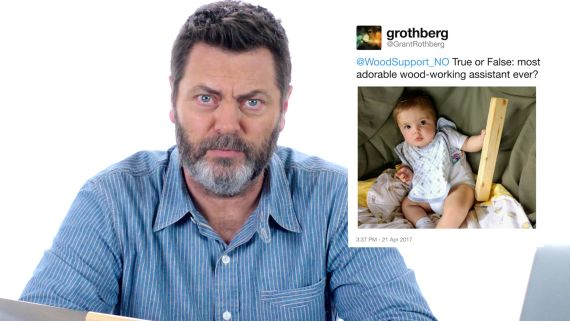 Nick Offerman Answers Woodworking Questions From Twitter