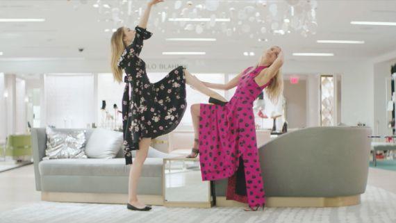 Watch Laura and Nathalie Love Explore the Saks 10022-SHOE Floor