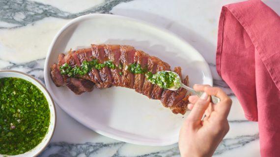 This Steak With Zesty Salsa Verde is a Weeknight Winner