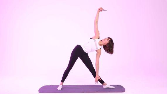 Nina Dobrev's Yoga Selfie Challenge