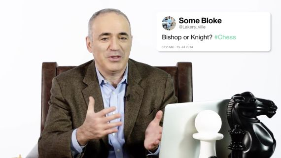Garry Kasparov Answers Chess Questions From Twitter