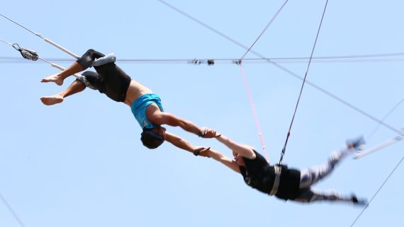 Flying Trapeze Isn't Just For Circus Performers