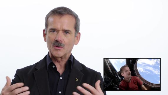 Chris Hadfield explains his 'Space Oddity' video