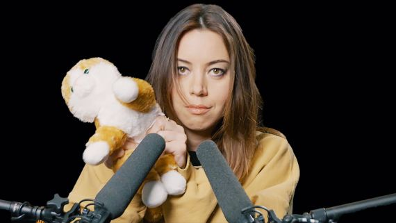 Aubrey Plaza Explores ASMR with Whispers, Peacock Feathers, and Cornflakes