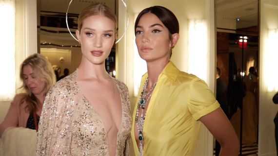 How Supermodel-BFFs Lily Aldridge and Rosie Huntington-Whiteley Got Ready for the Met Gala