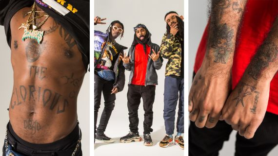 Flatbush Zombies Will Take Their Tattoos to the Grave