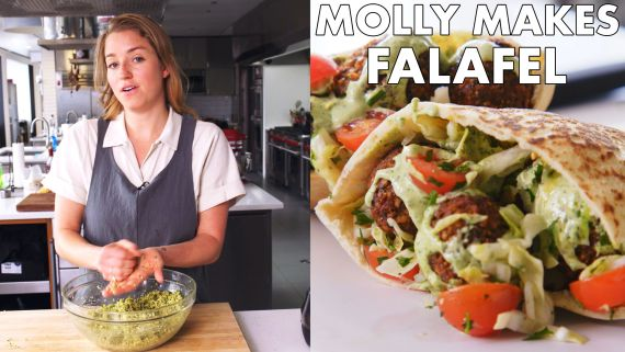 Molly Makes Fresh Herb Falafel