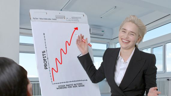 Emilia Clarke Re-Creates Stock Photos