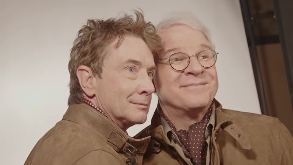 Good Friends Steve Martin and Martin Short Fake It for the Camera