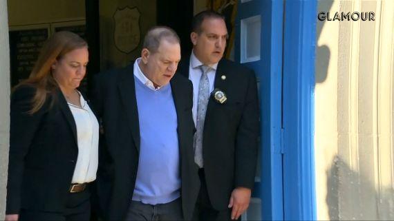 Harvey Weinstein Exits NYPD In Handcuffs