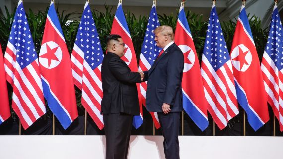 The Pageantry of a U.S.-North Korea Handshake