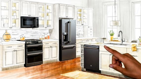 Changing the Face of Kitchen Design: Start with a Black Slate Finish