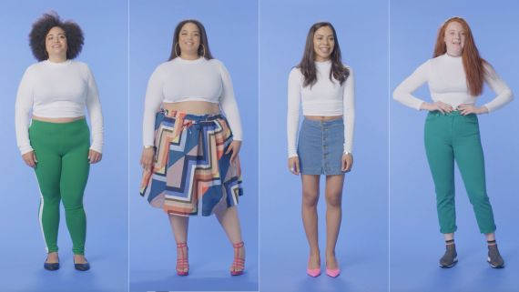 Women Sizes 0 Through 28 Try on the Same Crop Top