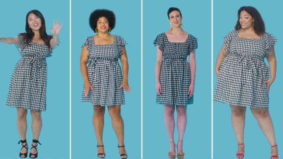 Women Sizes 0 to 26 Try On the Same Short Dress