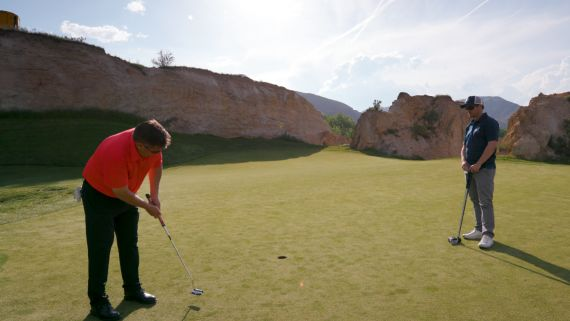 The ultimate golf experience starts with a great swing and ends with... dinosaur fossils.