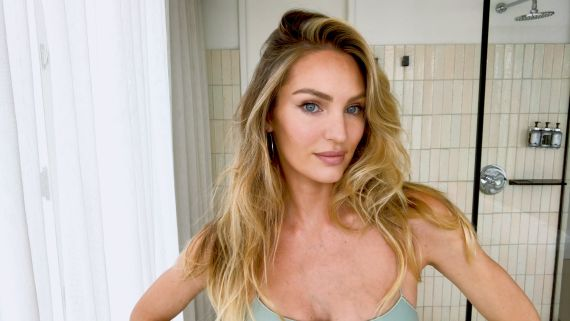 """Watch Candice Swanepoel's 10-Minute Guide to """"Fake Natural"""" Makeup and Faux Freckles"""