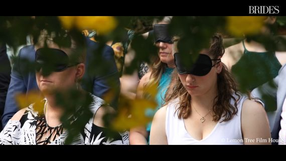 In Honor of This Blind Bride, Wedding Guests Wore Blindfolds During the Ceremony