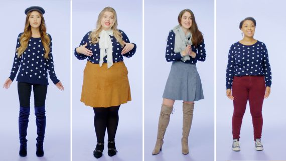 Women Sizes 0 to 28 Try on the Same Sweater