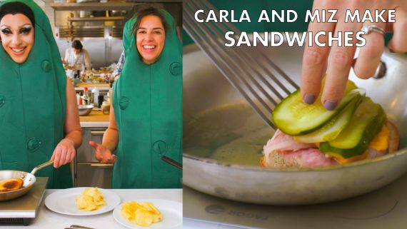 Miz Cracker and Carla Make Pickles and Sandwiches