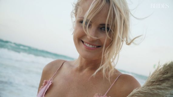 Actress Malin Akerman's Boho Beach Wedding