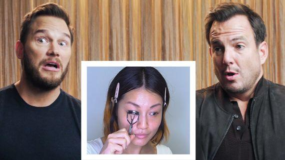 Chris Pratt and Will Arnett Narrate A Makeup Tutorial