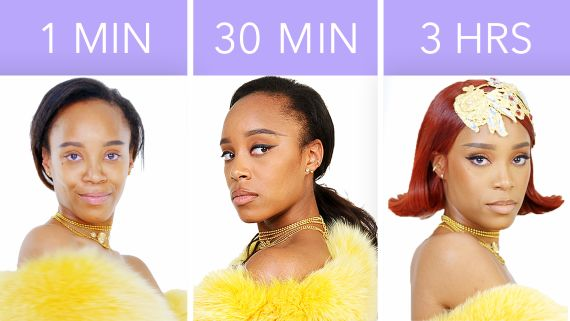 Rihanna's Look in 1 Minute, 30 Minutes, and 3 Hours - Makeup Challenge
