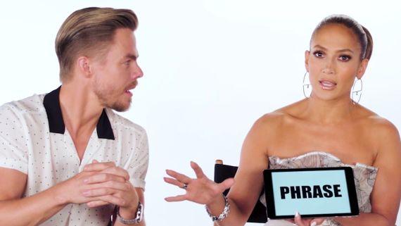 Jennifer Lopez Teaches You Dance Slang with Derek Hough and Ne-Yo